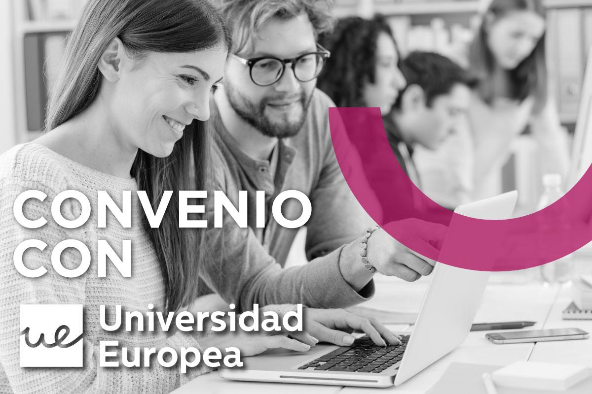 CONVENIO DE PRÁCTICAS CON LA UNIVERSIDAD EUROPEA DE MADRID